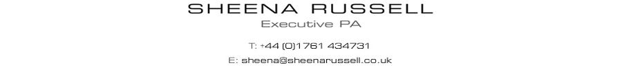 Sheena Russell, Executive PA - t: +44(0)1761434731